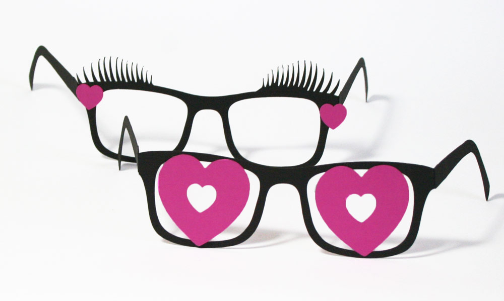 valentine glasses classroom idea