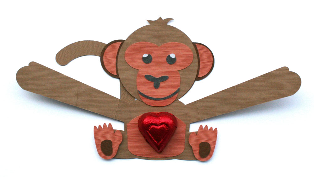 These adorable handmade valentines open up to reveal a big hug and a special treat. SVG cut files available in the Pazzles Craft Room.