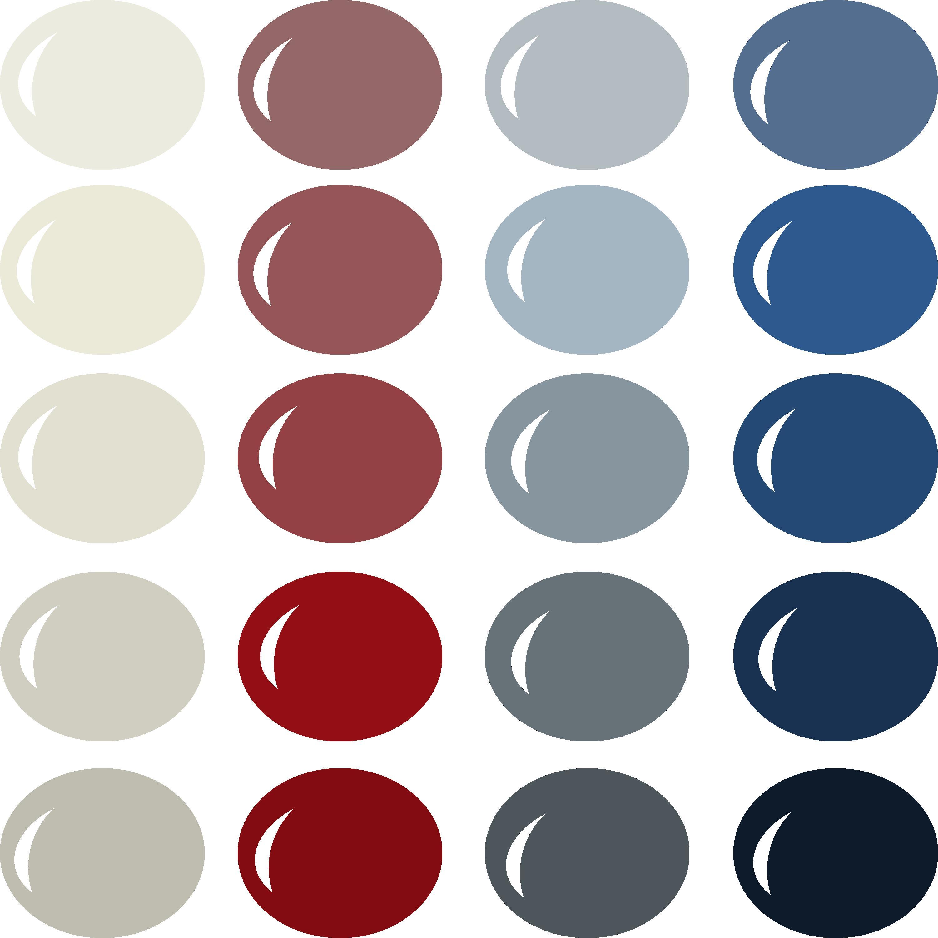 InVue Color Palette: Vintage Americana