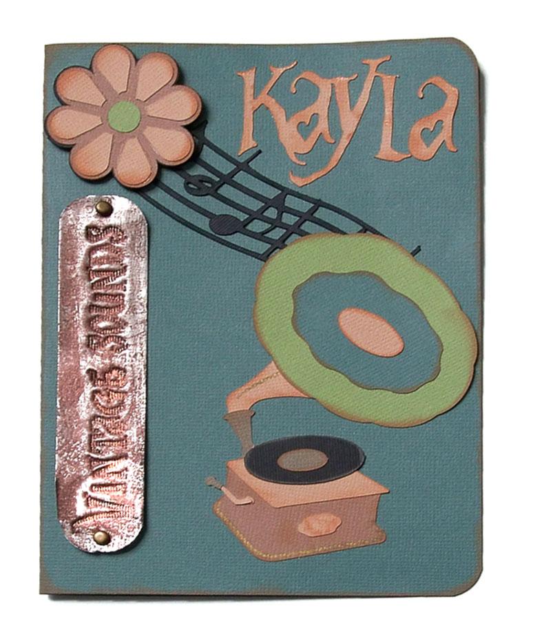 Vintage Music Card