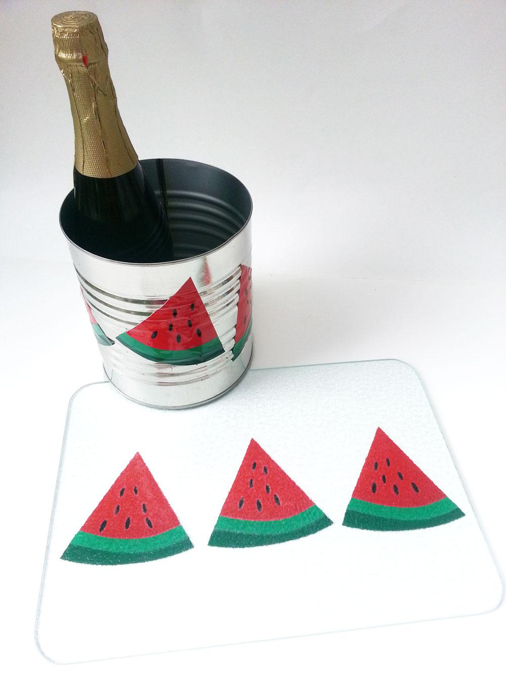 Watermelon Vinyl Ice Bucket