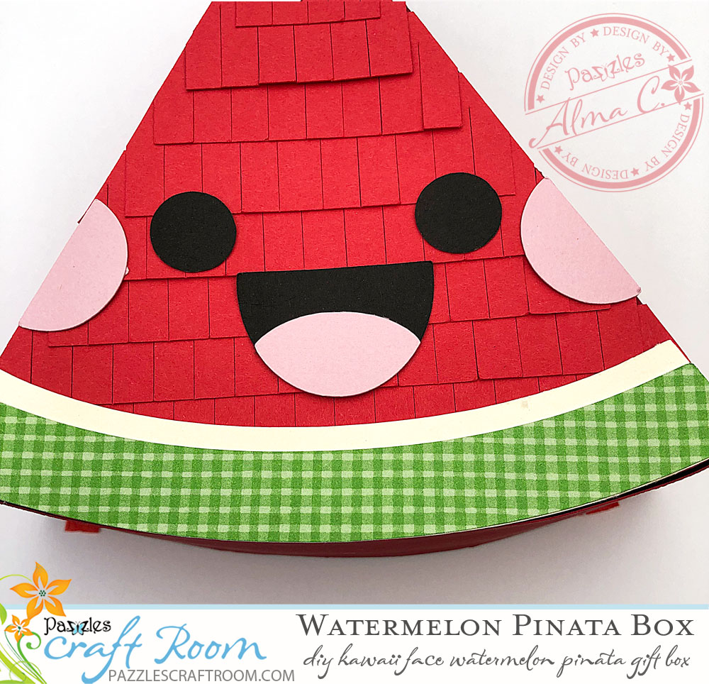 Pazzles DIY Kawaii Piñata Watermelon Box Craft Project by Alma Cervantes