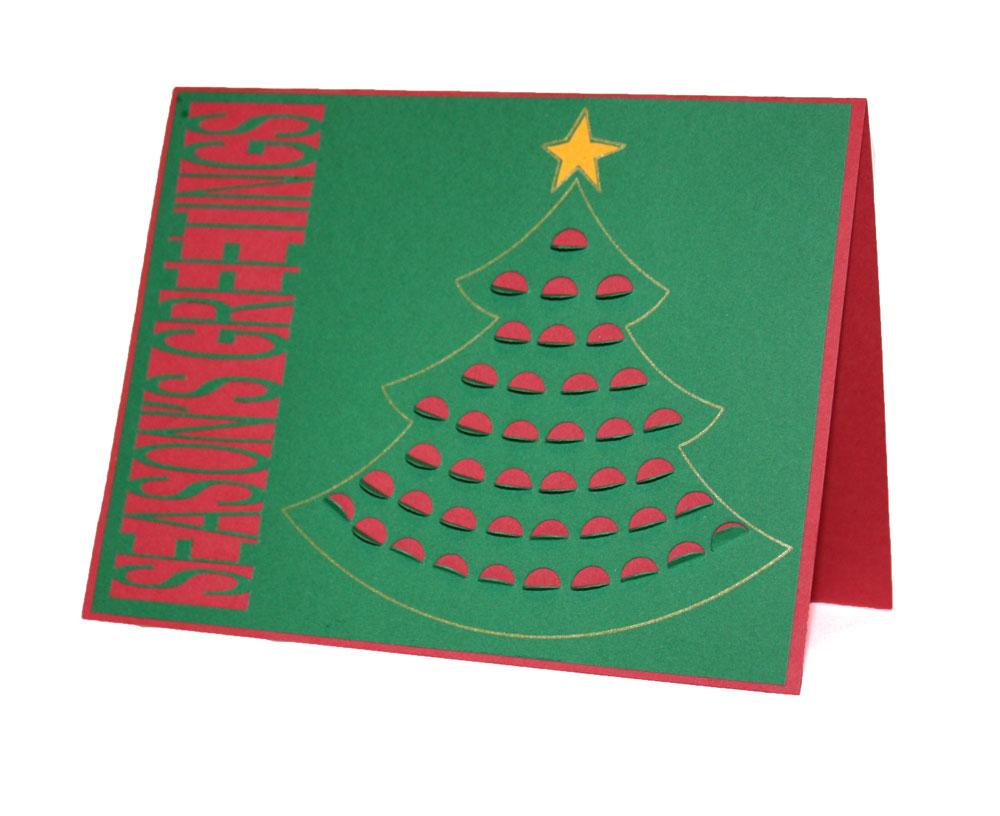 Seasons Greetings Cut Out Card