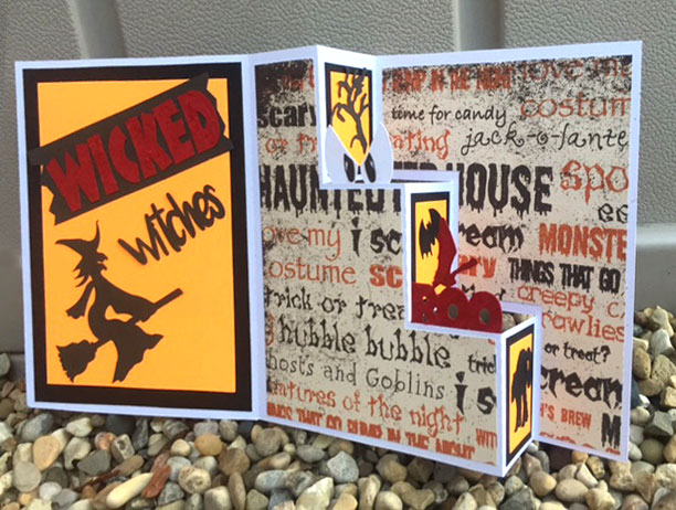 Wicked Witch Halloween Stair Step Card