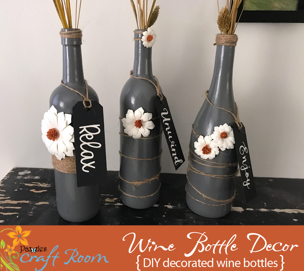 Wine Bottle Home Decor Pazzles Craft Room