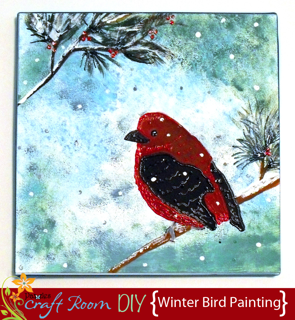 Winter Bird Painting