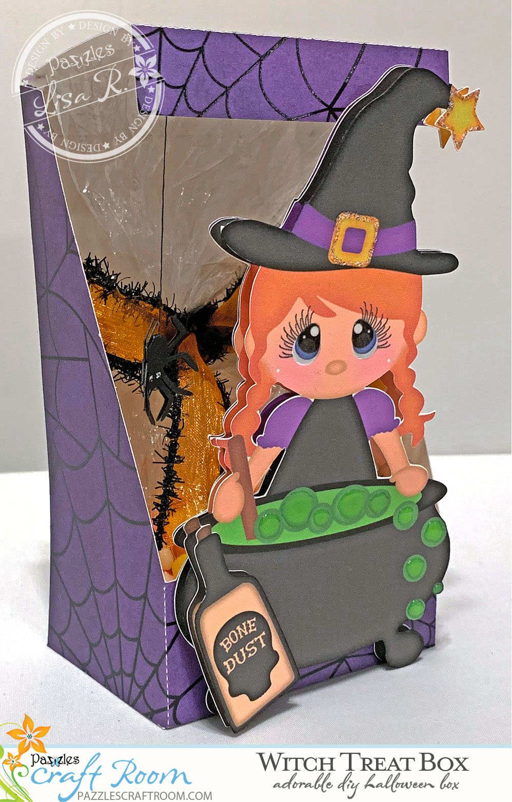 Pazzles DIY Halloween Witch Treat Box by Lisa Reyna