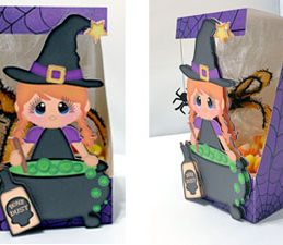 Pazzles DIY Halloween Witch Treat Box by Lisa Reyna