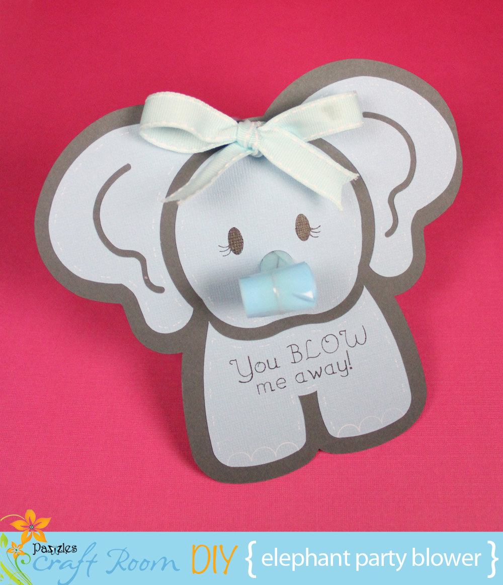 Elephant Party Blower - Pazzles Craft Room